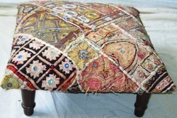 Embroidered & Mirror Work Ottoman