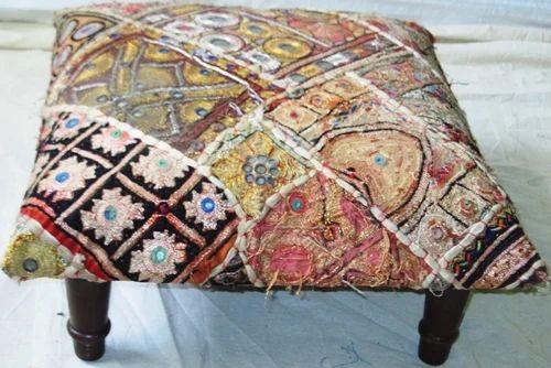Embroidered & Mirror Work Ottoman