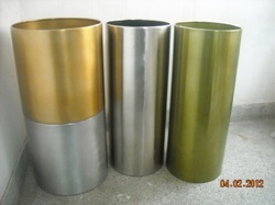Stainless Steel Pillar Planters