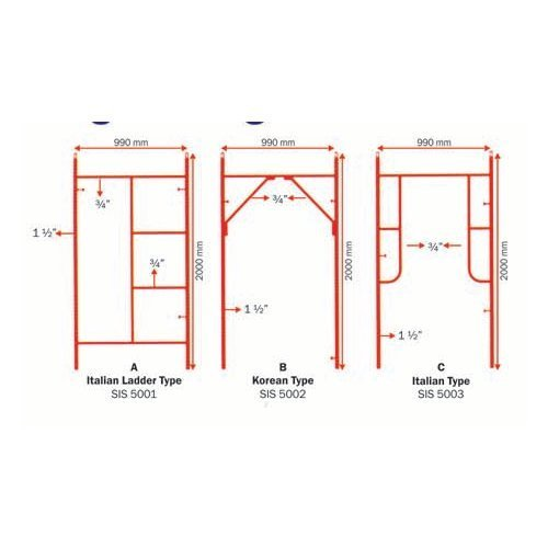 ee0d133460f Light Weight Scaffold Frames - View Specifications   Details of ...