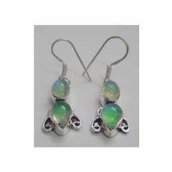 Rainbow Colour Silver Earrings