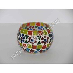 Glass Mosaic Work Tea light