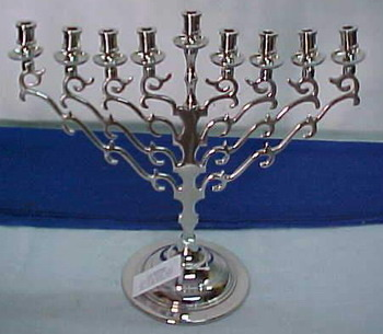 Silver Color Nickel Menorah Candle Holder, A. B. I ...