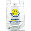 30 X 40 Inche Hdpe T-shirt Printed Glossy Plastic Shopping Carry Bags With Handle