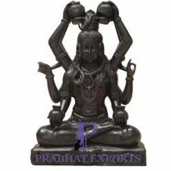 Black Marble Shiva Statue