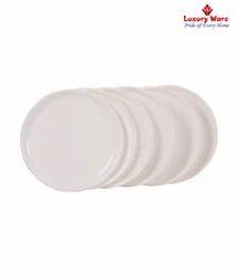 White Full Round Plates