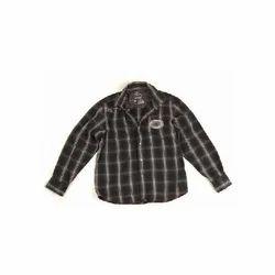Black Check Shirt Nurunf-1589