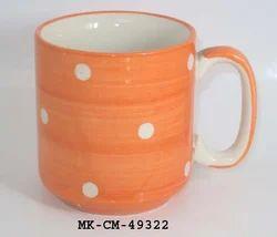 Orange Ceramic Mug, For Home, Capacity: Normal