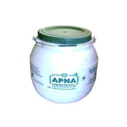 Plain And Printed Matka Shaped Plastic Container For Ghee
