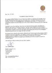 Appreciation Letter