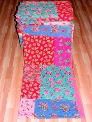 New Sari Patchwork Kantha Quilt