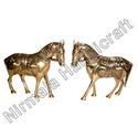 Brass Lekar Stone Horses