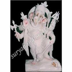 Marble Standing Ganesha Ji