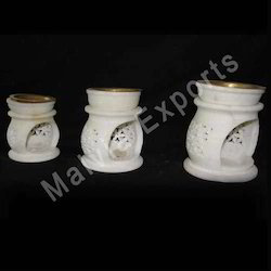 Hand Carved Marble Aroma Lamps