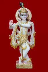 Marble Lord Krishna Moorti