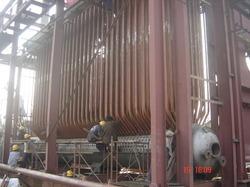 Boiler Bank Tubes Under Fitup