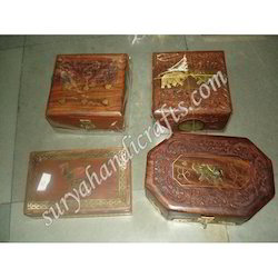Wooden Box With Brass Work