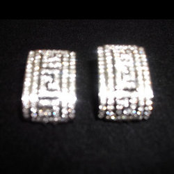 Carved Diamond Earrings
