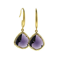 semi gold precious jewelry stones stone silver women item for fashion earrings wholesale