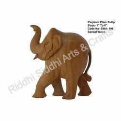 Sandalwood Craft Elephant Statue