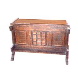 Carved Iron worked Old Design Side Board