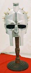Gladiator Helmet With Brass Nails