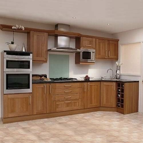Design For Kitchen Cabinet: Standard Modular Wooden Kitchen Cabinet, Rs 14000 /unit