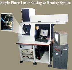 Single Phase Laser Sawing & Bruting System