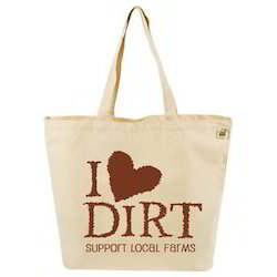 Long Handle Cotton Tote Bag