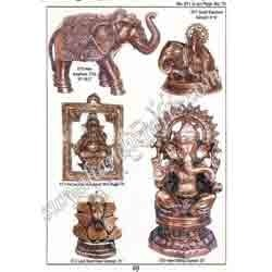 Brass Sitting Ganesha With Elephant