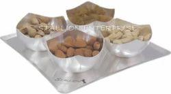 Ceramic Dry Fruit Crescent Cut Set of 4