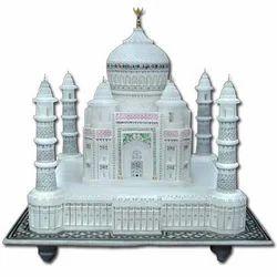 Indoor White Decorative Marble Taj Mahal, Size: 12x12 inch