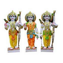 Colored Ram Parivar Statues