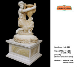 White And Pink Marble Stone Large Statues
