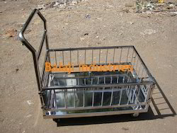 SS Platform Trolley with Box Cage