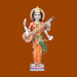Marble Standing Sarawati Statue