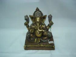 Ganesh Ji Squarebase Brass