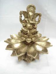 Ganesh Ji With Med Kamal Diya