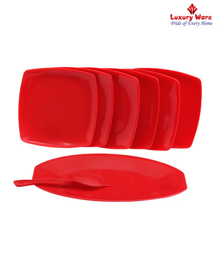 Royal Touch Multicolor Plastic Rice Plates