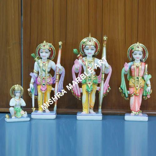 Ram Darbar Moorties - Ram Sita Darbar Colored Idols Exporter