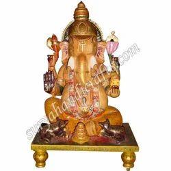 Wooden Painting Chowki Ganesh