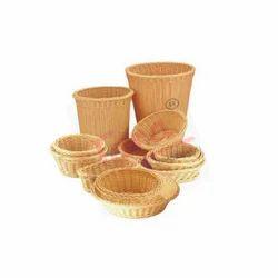 Round/Oval Polypropylene Rattan Basket