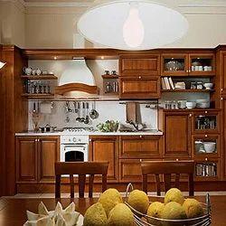 Delightful Teak Wood Modular Kitchen