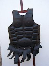 J16 Muscled Leather Armor With Front Strips