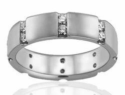 2 Row Men's Diamond Ring