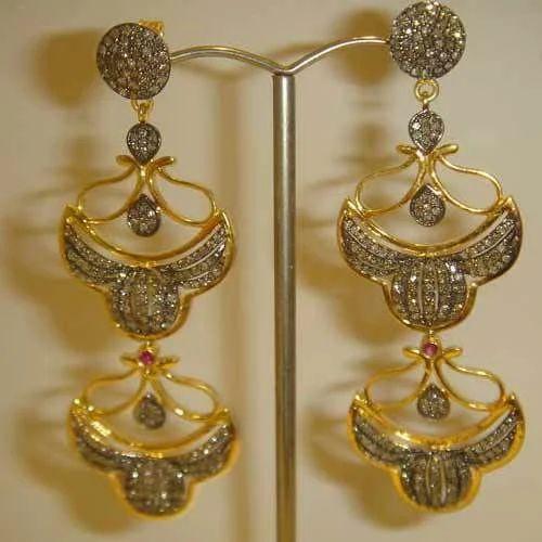 Yellow Gold Earrings K Jewels N More