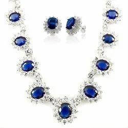Sapphire Jewelry Set