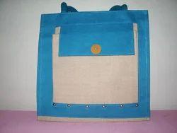 Designer Blue Jute Bags