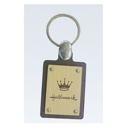 Logo Wooden Key Chain