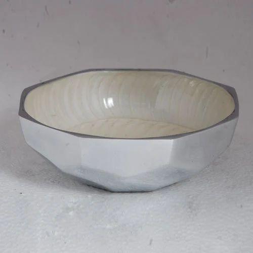 White Metal Bowls